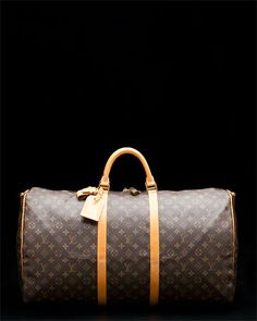 "Louis Vuitton ""Keepall 60"" Brown Monogram Canvas Duffel. I need this for traveling!"