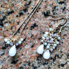 Colgante y zarcillos - Cristales - GoldFilled