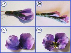 Бутончик цветка из фоамирана