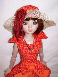 "OOAK Outfit for 16"" Ellowyne Pru Lizette ""Red Orange"" | by shogun.tree via eBay, SOLD 9/30/13   $59.99"