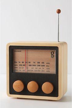 wooden radio {Designed by Singgih Kartono for Magno}