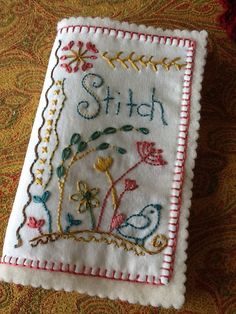 Embroidered stitch book cover | Flickr - Photo Sharing!