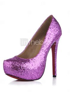 Sparkling Glitter Stiletto Heel Pumps Party / Evening Shoes With Sequin Glitter Dress, Purple Glitter, Purple Gold, Purple Rain, Cheap Womens Shoes, Womens Shoes Wedges, Pumps Heels, Stiletto Heels, High Heels