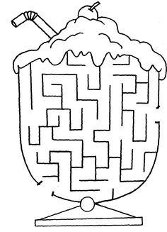 labirent bulmaca Çalışma sayfası easy medium hard maze puzzle