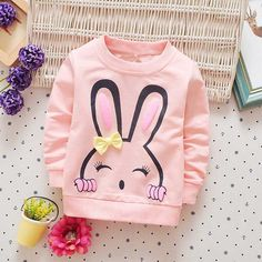 2017 New spring autumn children clothing baby girls infants Cartoon cotton long sleeve Sweet princess T-shirt tops tee - Kid Shop Global - Kids & Baby Shop Online - baby & kids clothing, toys for baby & kid Trendy Baby Girl Clothes, Baby Boy Outfits, Kids Outfits, Spring T Shirts, Autumn T Shirts, Baby Girls, Kids Girls, Baby Shop Online, Stylish Kids