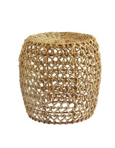 Stool / Basket Knotty natural * Cécile and Boyd