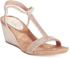 Style&co. Mulan 2 Embellished Evening Wedge Sandals, Only at Macy's