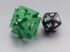 Big die 8 / d8 26 mm / dice set 3d printed d20 for scale