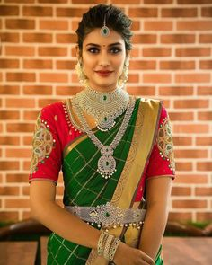 Contact for your wedding planning, An one stop solution for all your wedding needs. Experience and expertise in Wedding Planning & Service provider across India.Call or whatsapp: South Indian Wedding Saree, South Indian Bridal Jewellery, Indian Bridal Fashion, Saree Wedding, Bridal Sarees, Punjabi Wedding, Indian Weddings, Romantic Weddings, Indian Jewelry