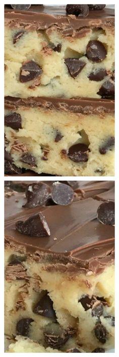 (no bake) Chocolate Chip Cookie Dough Bars