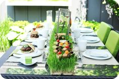 * So Lovely Sweet Tables *: IDEE DECO TABLE BARBECUE