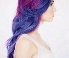 #purplehair #wavyhair #gorgeous