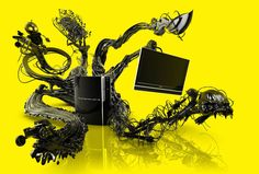 Playstation 3 Console Advertising Illustration - Search similar styles, portfolios and artists on the illustration agent website. Illustration Story, Pencil Illustration, Character Illustration, Animated Cartoons, 3d Animation, Cgi, Video Game Console, Playstation, Science Fiction
