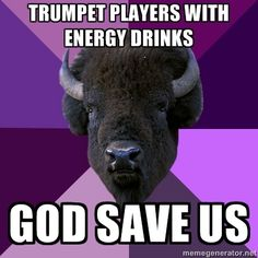 Haha trumpet players just like to have a little fun sometimes