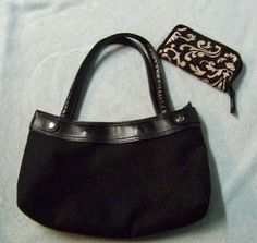Thirty One Black Fitted Skirt Purse and Wallet