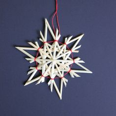 Straw Star Ornaments Straw Christmas Ornaments by ZiezoDesigns