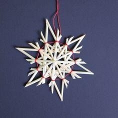 Straw Star Ornaments Straw Christmas Ornaments by ZiezoDesigns Swedish Christmas, Noel Christmas, Scandinavian Christmas, Homemade Christmas, Christmas Crafts, Christmas Ornaments, Corn Dolly, Straw Crafts, Straw Weaving