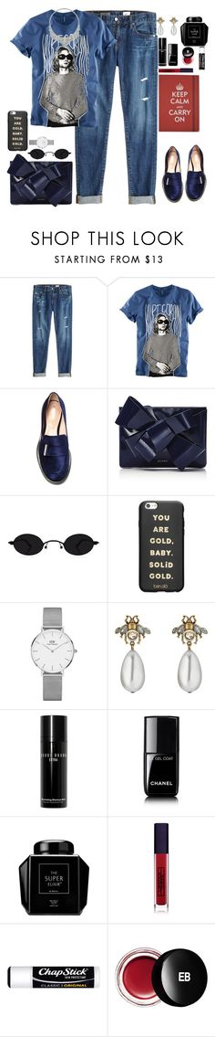 """amazed"" by gb041112 ❤ liked on Polyvore featuring AG Adriano Goldschmied, H&M, Nicholas Kirkwood, Delpozo, ban.do, Daniel Wellington, Gucci, David Webb, Bobbi Brown Cosmetics and Chanel"