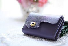 Handmade vintage rustic sweet cute beautiful leather small change coin wallet pouch purse for women/lady girl