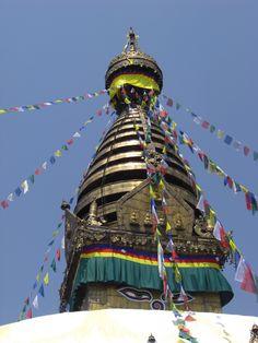 Katmanduban a nagy sztupánál