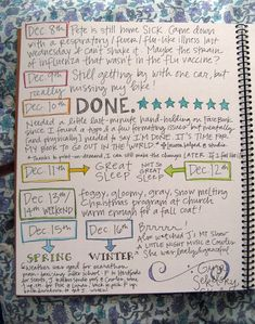 Cool way to document the week - but how do they get it laid out so neatly?