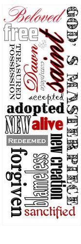 A Valentine from God bookmark - wonder if you can make Wordle bookmarks?