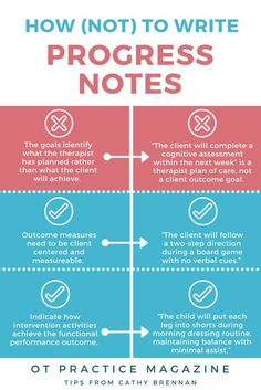 How (not) to write progress notes. Tips from occupational therapist Cathy Brennan about common pitfalls to avoid in documentation.