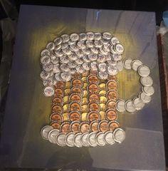 Beer Mug made of Bottle Caps - For Sale