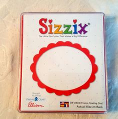 Sizzix 38-0306 Photo Frame Scallop Large Red die cutter Provo Craft Ellison #Sizzix