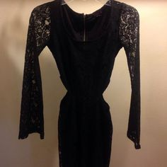 Black Lace Skater Dress Brand new only worn once, best fits a size 2/4, purchased at Macy's Macy's Dresses