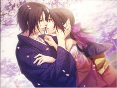 Hijikata & Chizuru | Hakuouki Shinsengumi Kitan #otomegame #game my fav shipping <3