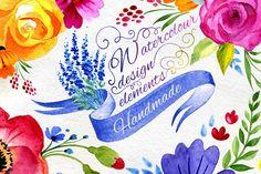 Watercolor flower by Samira on @creativemarket