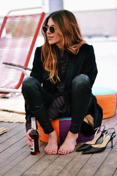 Hiya Maja. Please sit down after that enviable week of fashion you've presented. Still looking mighty cool in Copenhagben. #MajaWyh.