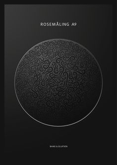 Bang & Olufsen Special Edition - Rosemåling by Andrew Guscott, via Behance Audio Design, Speaker Design, Texture Design, Detail Design, Bang And Olufsen, Circular Pattern, Flat Design, Textures Patterns, Bangs