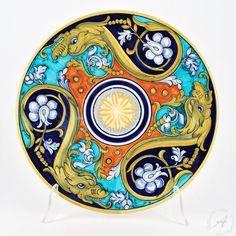 Handmade Italian ceramic wall plate by F. Niccacci Deruta u2013 Geometric 03  sc 1 st  Pinterest & Handmade Italian ceramic wall plate by F. Niccacci Deruta ...
