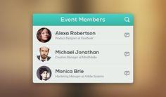 Event Members PSD - 365psd