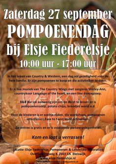 Blijswijk- Elsje Fiederelsje- pompoen heaven- leuk om in herfst sferen te raken & 1 x per jaar een  open dag met leuke activiteiten voor kids - om te onthouden - ook voor kinder feestjes -