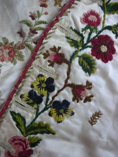 """Search Results for """"Textiles"""" – Page 3 – Trouvais Wool Embroidery, Silk Ribbon Embroidery, Vintage Embroidery, Embroidered Silk, Floral Embroidery, Embroidery Stitches, Embroidery Works, Embroidery Designs, Antique Sewing Machines"""