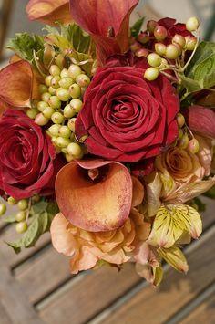 fall wedding flower arrangement | is an elegant fall wedding centerpiece of wholesale wedding flowers ...