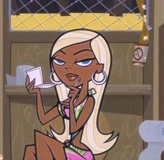 Black Cartoon Characters, Black Girl Cartoon, Dope Cartoon Art, Cartoon Kunst, Black Girl Art, Disney Characters, Cartoon Profile Pics, Cartoon Profile Pictures, Cartoon Pics