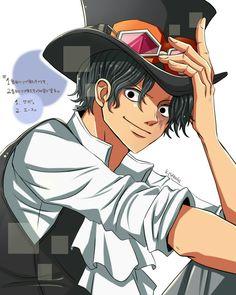Sabo One Piece, 0ne Piece, One Piece Fanart, Good Ol, Black Hair, How To Look Better, Handsome, Animation, Fan Art