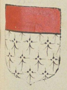 Jean DE VIVOSNE, écuyer, seigneur de la paroisse de Pleuville. Porte : d'hermines, à un chef de gueules | N° 332