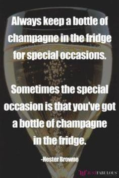 Cleaned the fridge out and realized I had a bottle of champagne in the very back of the fridge left over from last Christmas/New Years. Dinner and lots of giggles coming up for the weekend!