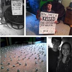 Kisses prom proposal