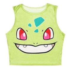 Squirtle Pikachu AA style Bustier Crop Top Sexy Camisole 3D Bulbasaur Pokemon cartoon Print cropped Top