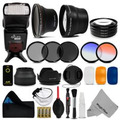 Complete Lens Flash Filter & Accessory Kit for Nikon D5300 D5200 D5100 D3200 #travel #guide #photography #inspiration #nikon #photo #Photographer #Camera #DSLR #Lens #photoshop #photog #deals #BlackFridayDEAL #BlackFridayDEALS #BlackFriday #BlackFriday2014