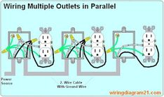 Incredible 110V Outlet Wiring Multiple Outlets Basic Electronics Wiring Diagram Wiring Cloud Venetioscosaoduqqnet