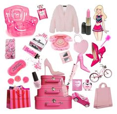 """""""Boss Barbie"""" by kandicorn ❤ liked on Polyvore featuring Disney, Bubble Inflatables, Giuseppe Zanotti, Clips, Christian Louboutin, StyleNanda, AT&T, Chanel, Conair and OPI"""