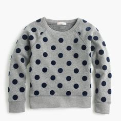 Shop the Girls' Polka Dot Sweatshirt at JCrew.com and see our entire selection of Girls' Shirts.