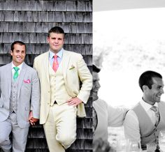 Gay wedding in marthas vineyard. LOVE the grooms attire.